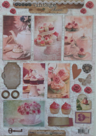 Studio Light - Vintage Line - cupcakes