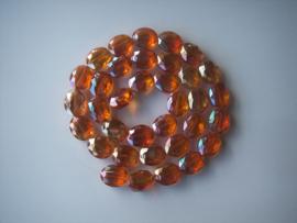 Ovale facetkraal 20 x 16 oranje
