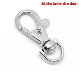 Sleutelhanger zilverkleurig 38 mm