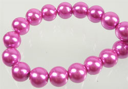 Glasparel 13 mm roze