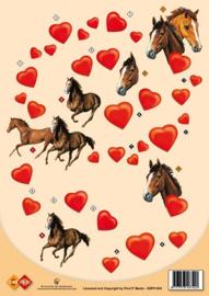3D-knipvel paarden