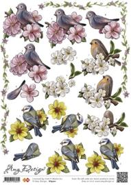 Knipvel Amy Design vogeltjes