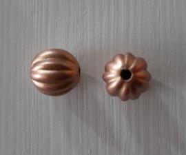 Acryl kraal pompoenvorm 10 mm goudbruin