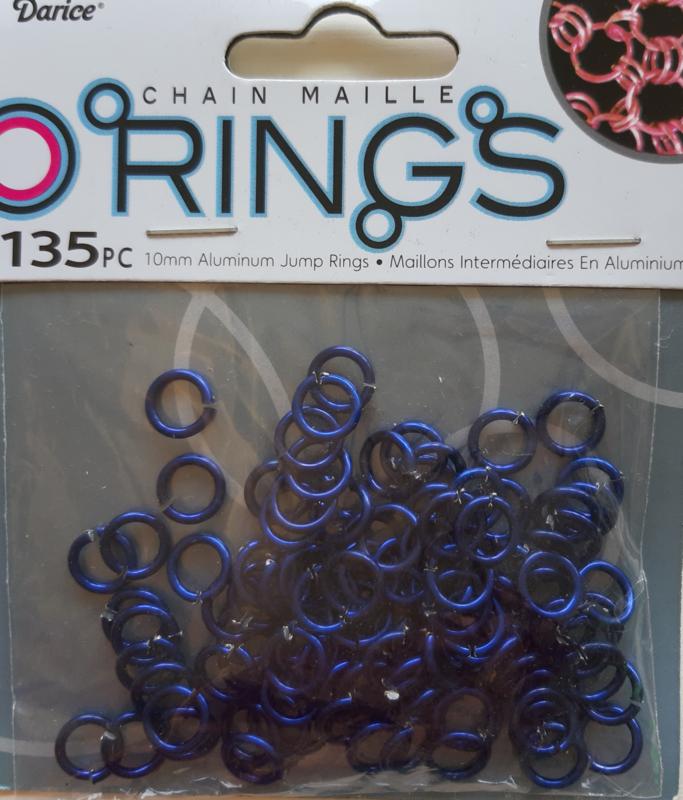 aluminium chain maille 10 x 2 mm, donkerblauw