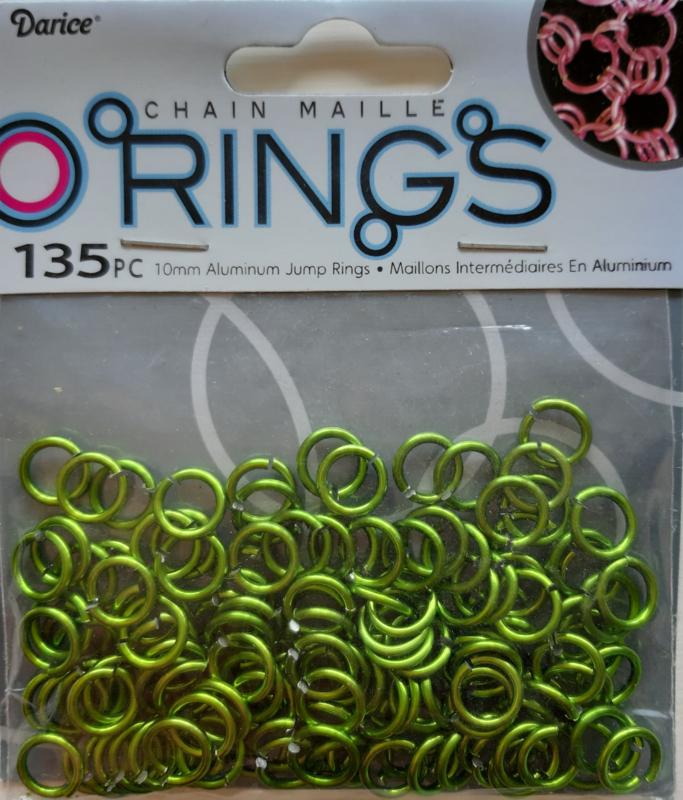 aluminium chain maille 10 x 2 mm, groen