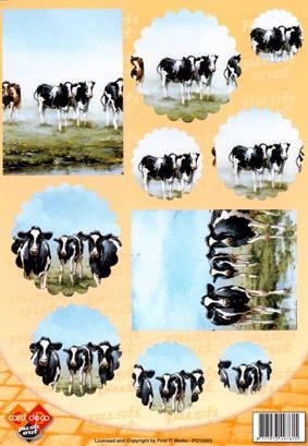 Uitdrukvel Card Deco Koeien