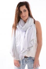 Duo sjaal Wit-Lichtblauw