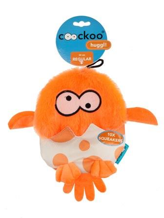 Huggl squeakers Oranje 24x18cm