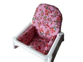 antilop kussen voor ikea kinderstoel kleur licht roze daisy flower