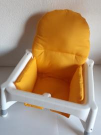 antilop kussen voor ikea kinderstoel effen geel