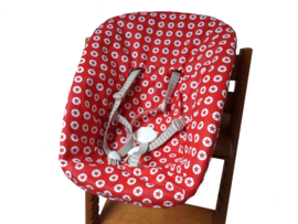 textielset / hoes voor stokke newborn set converse rood