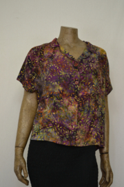 Billy B Blouse B214 mix batik paars tak