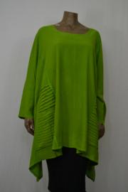 La Bass Blouse / Shirt en zakken groen mt. 1