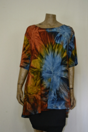 Normal Crazy  Shirt  Alica Tai Dai br. Blauw extra lang
