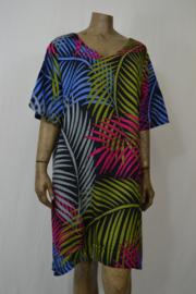 Disini / Luna  Blouse Dress Jade zwart/groen/roze/blauw