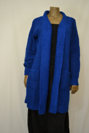 Billy B Vest Cardigan Kitty Gentian Blue met zakken
