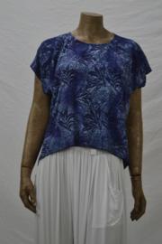 Shirt DisiniTop 188 blauw blad kort