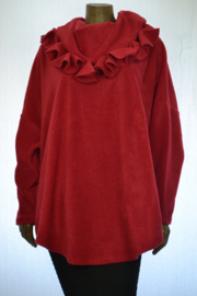 Boris trui rood of zwart of paars of beige donker blauw/paarsklokjeskraag 6199
