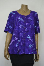 Billy B Blouse B215 mix batik paars libel