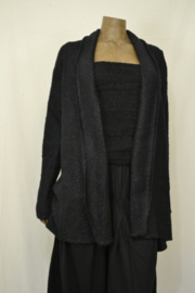 Billy B Vest Cardigan Max black geen zak mt. S/M