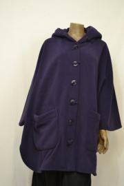 Boris poncho cape paars (ook in andere kleuren)