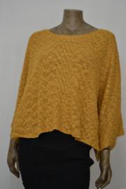 Billy B trui / shirt Top Imma 65 mustard, kort, wijd