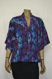 Billy B Blouse 206 mix batik paars