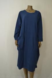 Moon Dress met  zakken jeans blauw