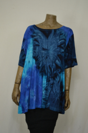 Normal Crazy Shirt Top A line SS blauw / blauw