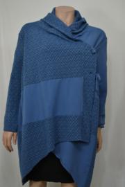 Moon Vest / Trui met kraag  blauw