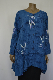 Billy B Blouse Big 148 lange mouw mix batik blauw