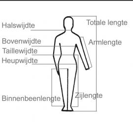 Deze afbeelding geeft uitleg van de maten