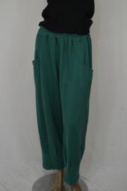 Keko broek 3/4 met koord en grote zakken groen mt. 1