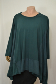 Moon Trui / Shirt Big brede band onderaan donker groen