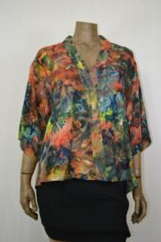 Billy B Blouse 206 mix batik bont gekleurd