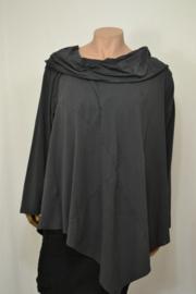 Moon Trui / Shirt met grote kraag mt. 1 donker grijs