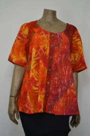 Billy B Blouse mix batik patch oranje