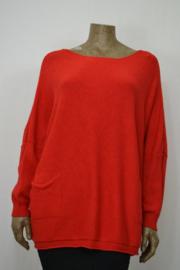 CL mode Trui met zakken rood