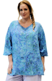 Luna blouse emma 73bluepastelflwr met knopen