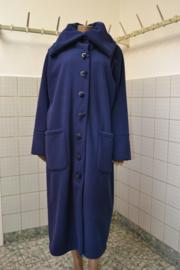 Boris Jas blauw.,recht model ongevoerd, Grote zakken