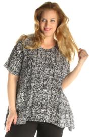 Luna blouse Honey 02 blackwhitestick