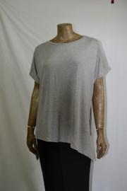 Asym shirt lichtgrijs