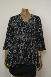 Billy B Blouse 151 mix Batik zwart/wit streep