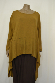 Xadoo shirt wijdere hals  geel/zwart streep big/big