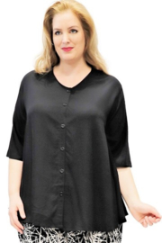 Luna blouse dallas 71 blackf met knopen