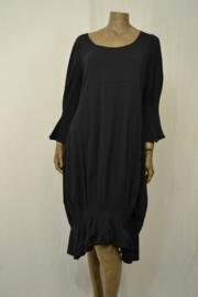 Boris jurk 4288 zwart met plooi mt. 3