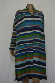 Billy B Vest Cardigan Betty Max stripe multi color mt. L/XL