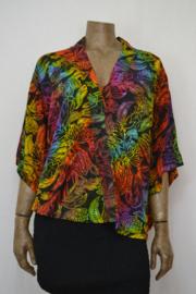 Billy B Blouse 206 mix Batik mooi gekleurd