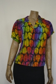 Billy B Blouse 214 mix batik mooi blad