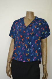 Billy B Blouse B214 mix batik met kraag